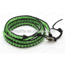 Friendship wrap Bracelets with Aventurine 4mm round beads