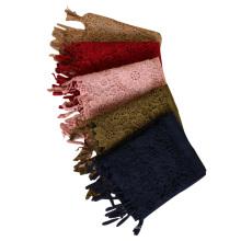 Nouveau design maxi dubai châles de mode coton dentelle hijab écharpe