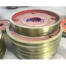 Insertion de doublure de plaque de cadre de pompe à lisier de sable centrifuge horizontale anti-abrasive 14/12