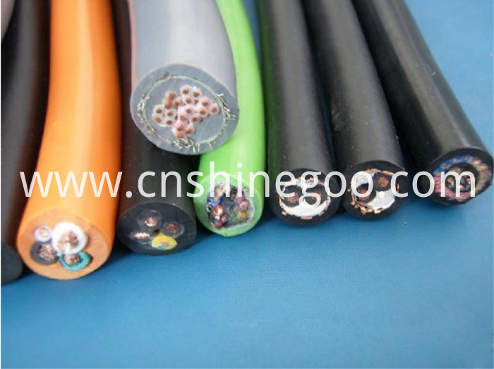 Fluoroplastic flexible power cable