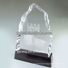 Hot selling good quality engraving delicate fashionable crystal trophy awards