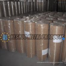 Rouleau de treillis soudé galvanisé par prix usine de 1/4 pouce