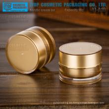 YJ-A10 10g hermosa y popular color oro alta calidad pequeño por mayor de tarro de acrílico