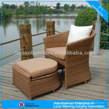 New pe rattan chair synthetic rattan woven outdoor seat