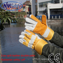 NMSAFETY cheap cow leather work glove