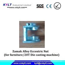 Zamak Alloy Metall Exzentermutter für Bürotisch (Druckguss)