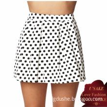 Ladies A-Line Polka DOT Fashion Mini Skirt