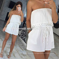 2017 Aliexpress Amazon leisure new wrapped chest exposed strapless sexy body romper jumpsuit for women