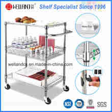 NSF Chrome Metal Wire Cuisine Alimentation Stockage Chariot Trolley