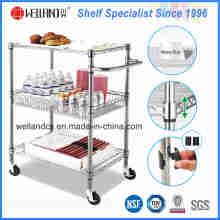 NSF хромированная металлическая проволока для кухни корзина для пищевых продуктов тележка