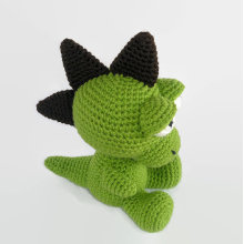 Soft baby toy stuffed knitted Baby Dragon Crochet Dragon