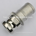 Quick coupling hose connectors SS316, camlock coupling