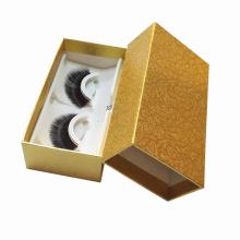 Gold Paper Recycled Eyelash Box False Eyelashes Packaging