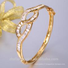 2018 mode nouvelle tendance 24k plaqué or cristal zircon charme bracelet