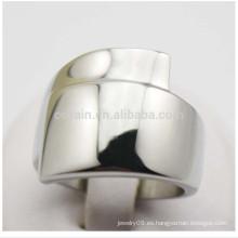 China de fábrica de joyería de plata de joyería de titanio unisex unidos anillos en blanco