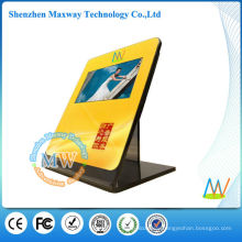 acrylic counter display stand with 10 inch lcd monitor