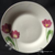 assiette en porcelaine de Chine, assiette en porcelaine de linyi, assiette en porcelaine de haute qualité