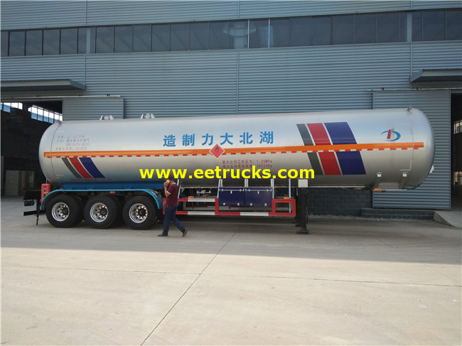 58.5cbm LPG Transport Tank Trailers