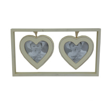 Love Shape Wooden Photo Frame for Home Deco