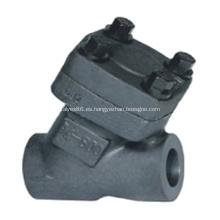 Válvula de retención tipo Y de acero forjado