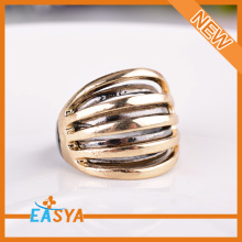 Nieuwe tweetonige kwast dubbele vinger Ring voor mannen
