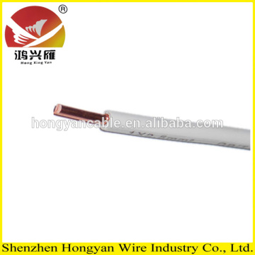 2015 Top Quality copper electric cable untuk perumahan PVC Insulated Wire solid 4mm