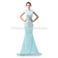 Nuevo vestido de noche del cordón del color verde del estilo 2018 nuevo diseño caliente de la venta 2pcs determinado vestido de noche real