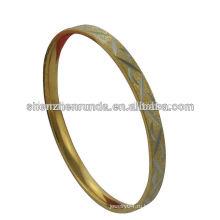 Простой нержавеющая сталь 18k позолоченный браслет для женщин