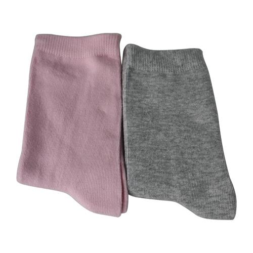 Cotton Grey Kid's Ankle Socks