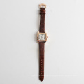Vintage lady watch with genuine leather strap, watch OEM design your own watch