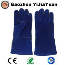 Blue Cow Split Leather Welding Industry Gants de sécurité protecteurs