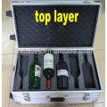 Новые прибытия профессиональный аллюминиевый прокатки вина случае с 2 колесами для 12 бутылок