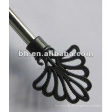 Kunststoff-End-Metall-Vorhang Stange, Spray-Lack Vorhang Pole