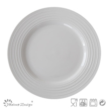 Round Embossed Ceramic Cheap Royal Plate
