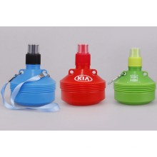 OEM PE Foldable Portable Sport Water Bottle with Rope