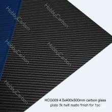 Feuilles brillantes / mattes 3K feuilles de verre de carbone 3.0mm 4.0mm 4.5mm