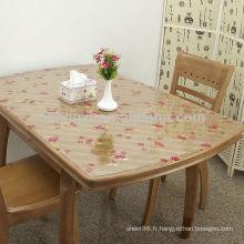Feuille colorée de PVC pour la table de thé