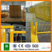 Australien oder Kanada Hochwertiger verzinkter PVC-beschichteter temporärer Zaun