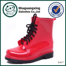 Frauenstiefel Spanien Schuhe rote Damen high Heel bootsB-817