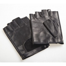 Men′s Fashion Goatskin Leather Fingerless Driving Sports Gloves (YKY5201-1)