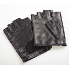 Мужская мода козьей кожаные перчатки без пальцев вождения спортивные перчатки (YKY5201-1)