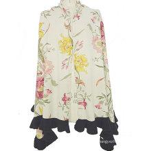100% cashmere intarsia shawl