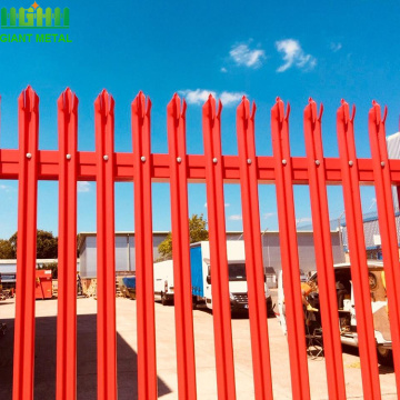 PVC coated ornamental Fence Euro palisade fence