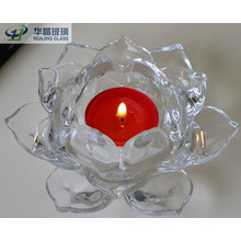 Craft Lotus Shaped Glass Candles Jars