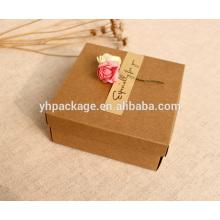 Caja de regalo hecha a mano de calidad superior hecha a mano kraft