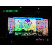 Tela de exposição do diodo emissor de luz da cortina de 37.5mm para eventos ou mostra o fundo