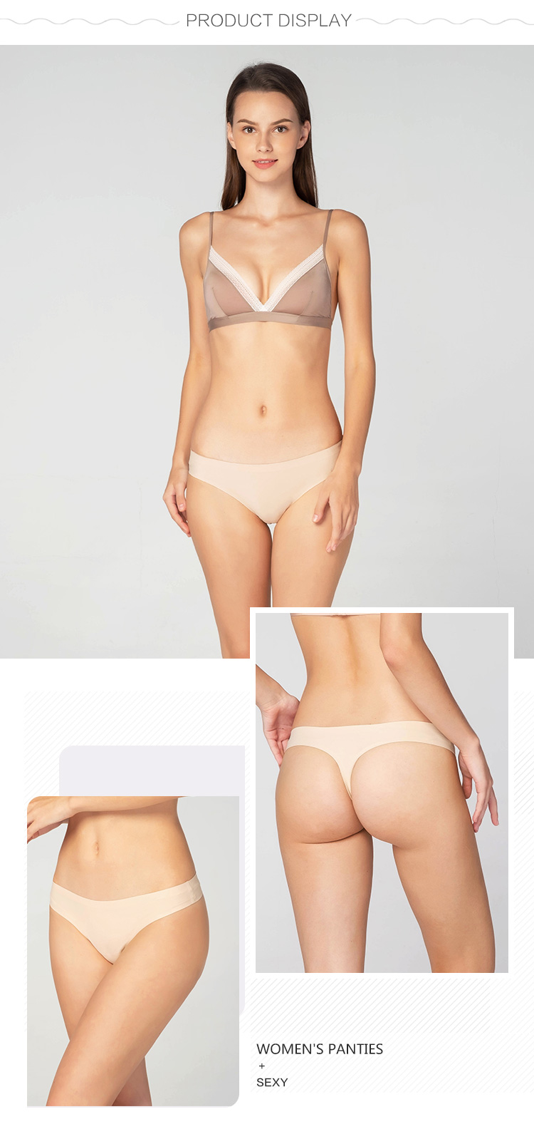 Women seamless panty-product display