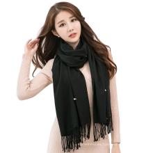 La señora al por mayor maxi pashmina bufandas combina pañuelo viscosa liso mezclar bufandas del mantón de la perla