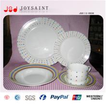 Atacado jantar barato pratos de porcelana Placas de frutas
