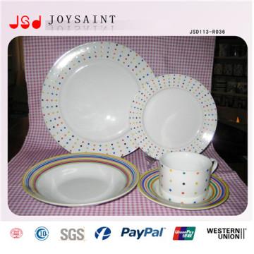 Wholesale Cheap Dinner Porcelain Plates Fruit Plates